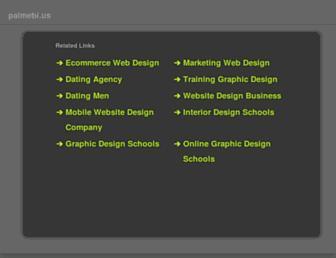 Main page screenshot of palmebi.us
