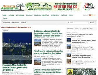 reporterambiental.com.br screenshot
