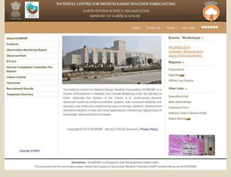 ncmrwf.gov.in screenshot