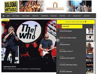 Main page screenshot of bolognaspettacolo.it