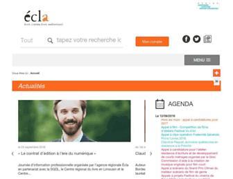Main page screenshot of ecla.aquitaine.fr