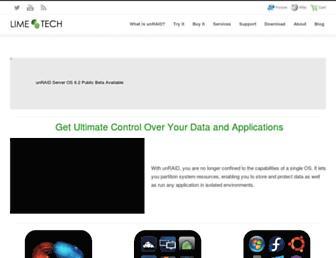 lime-technology.com screenshot