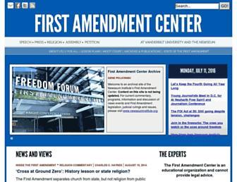 Thumbshot of Firstamendmentcenter.org