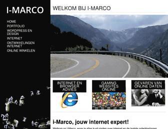 Main page screenshot of i-marco.nl