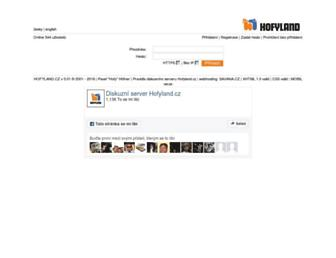 Main page screenshot of hofyland.cz