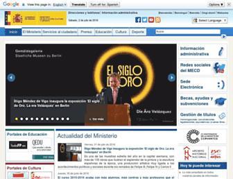 mecd.gob.es screenshot