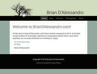 briandalessandro.com screenshot