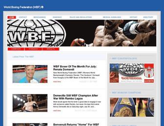 worldboxingfederation.net screenshot