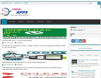 uniqueappx.blogspot.com screenshot