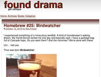 Main page screenshot of blog.founddrama.net