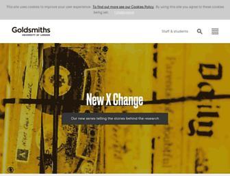Main page screenshot of gold.ac.uk