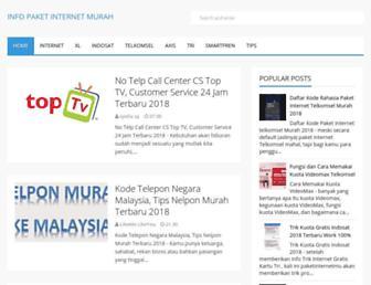 paketinternetmu.com screenshot