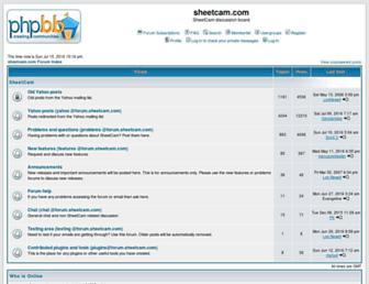 forum.sheetcam.com screenshot