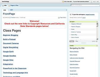 teachnology.pbworks.com screenshot