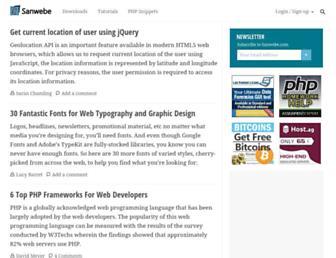 sanwebe.com screenshot