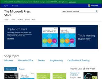 microsoftpressstore.com screenshot