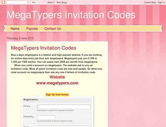 megatypers-invitationcodes.blogspot.com screenshot