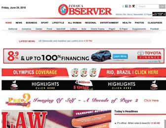 Thumbshot of Jamaicaobserver.com