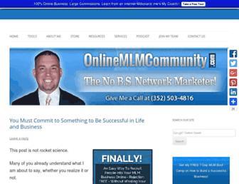 onlinemlmcommunity.com screenshot