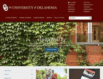 Main page screenshot of ou.edu