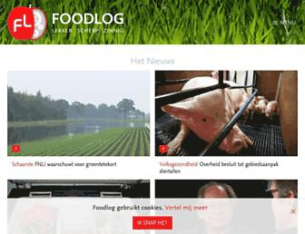 Main page screenshot of foodlog.nl