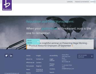 bindmans.com screenshot
