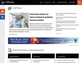 Main page screenshot of aappublications.org