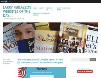 Main page screenshot of larryferlazzo.edublogs.org