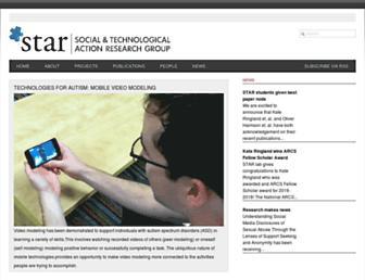 Main page screenshot of star-uci.org