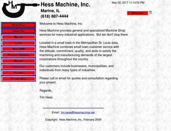 hessmachine.net screenshot