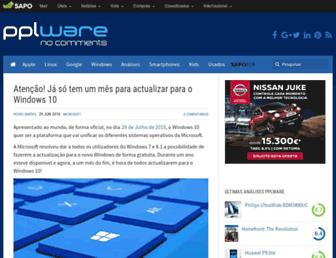 pplware.sapo.pt screenshot