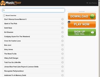 musicpleer.la screenshot