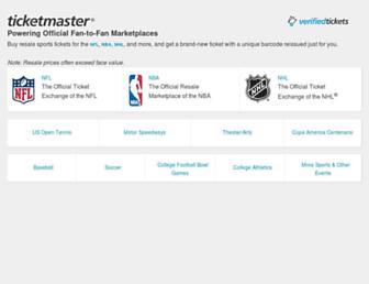 Thumbshot of Ticketexchangebyticketmaster.com