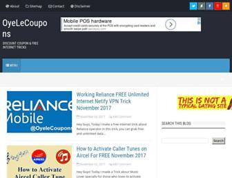 oyelecoupons.com screenshot