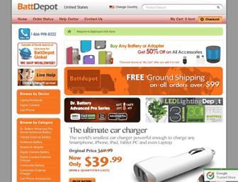 Thumbshot of Battdepot.com
