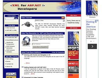 xmlforasp.net screenshot
