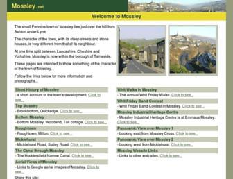 Main page screenshot of mossley.net