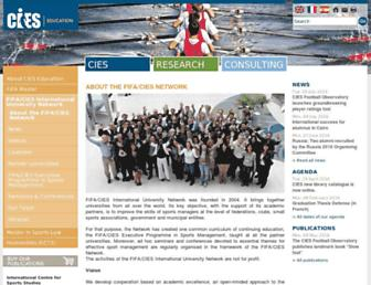Main page screenshot of cies-uni.org