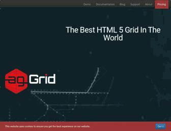 ag-grid.com screenshot
