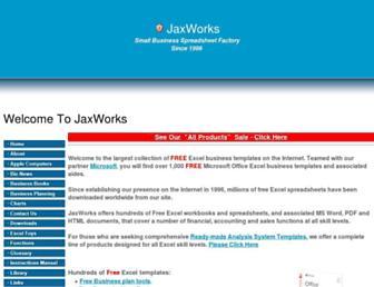 jaxworks.com screenshot