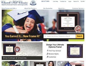 diplomaframe.com screenshot