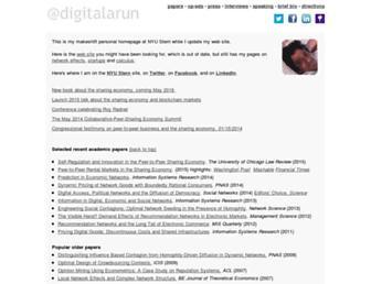 oz.stern.nyu.edu screenshot