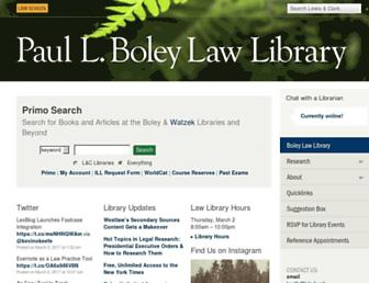Main page screenshot of lawlib.lclark.edu