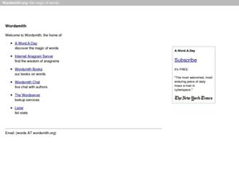 Main page screenshot of wordsmith.org