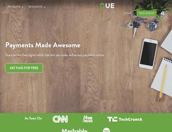 due.com screenshot