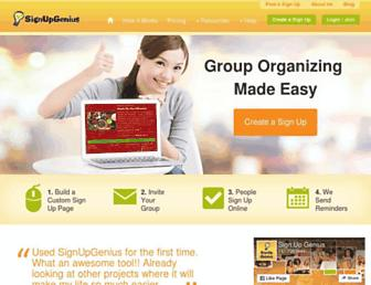 signupgenius.com screenshot