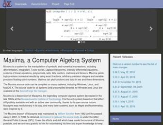 maxima.sourceforge.net screenshot