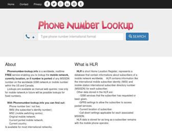 phonenumber-lookup.info screenshot