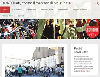 Main page screenshot of scatenati.info