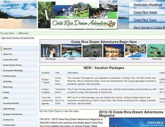 costaricadreamadventures.com screenshot